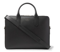 Panama Cross-Grain Leather Briefcase