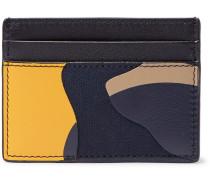 Valentino Garavani Camouflage-print Leather And Canvas Cardholder