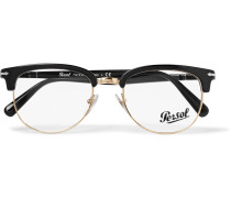 D-frame Acetate And Gold-tone Optical Glasses - Black