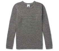 Mentor Panelled Mélange Merino Wool Sweater - Gray