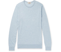 Theon Slim-fit Mélange Sea Island Cotton And Cashmere-blend Sweater