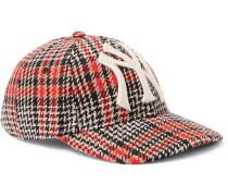 + New York Yankees Appliquéd Checked Wool-blend Tweed Baseball Cap - Brown