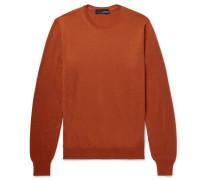 Slim-fit Cashmere Sweater - Orange