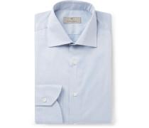 Light-Grey Slim-Fit Cotton Shirt