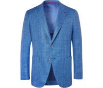 Blue Sailor Wool, Silk And Linen-blend Blazer - Blue