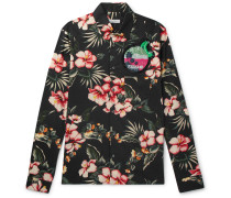 Slim-fit Embellished Printed Cotton Shirt