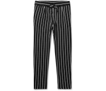 Pinstriped Satin Drawstring Trousers