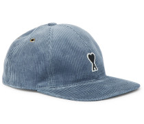 Logo-Appliquéd Cotton-Corduroy Baseball Cap
