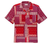 Patchwork Printed Cotton Shirt