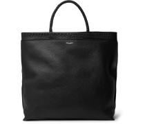 Patti Full-grain Leather Tote Bag - Black