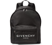 Logo-print Nylon Backpack - Black