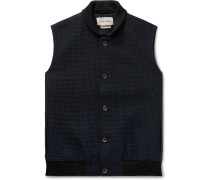 Moorland Waffle-Knit Wool and Cotton-Blend Gilet