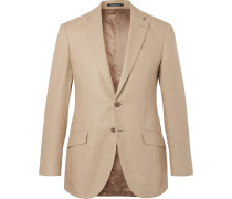 Beige Seishin Slim-fit Linen Suit Jacket