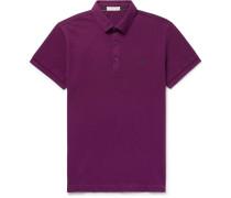 Cotton-piqué Polo Shirt - Plum
