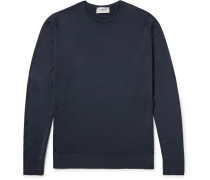 Lundy Slim-fit Merino Wool Sweater - Midnight blue