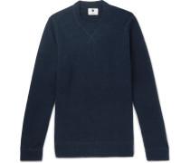 Glen Bouclé-knit Sweater - Navy