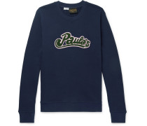 + Paula's Ibiza Logo-appliquéd Cotton Sweatshirt - Navy