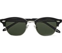 Square-frame Acetate And Silver-tone Sunglasses - Black