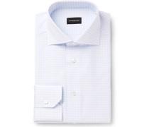 Light-blue Gingham Cotton Shirt