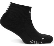 Elite Cushioned Dri-fit Socks - Black