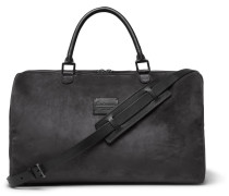 Medium Suede And Full-grain Leather Holdall