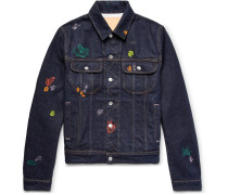 Tent Gum Paint-splattered Denim Jacket
