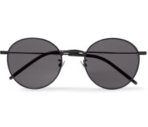 Round-frame Metal Sunglasses - Black