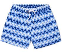 Copacabana Short-length Printed Swim Shorts - Blue