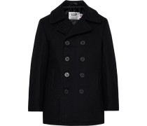Melton Wool Peacoat - Black