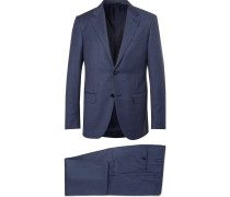 Navy Milano Easy Slim-fit Wool Suit - Navy