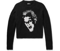 Intarsia Cotton-bouclé Sweater