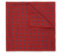 Floral-print Wool Pocket Square