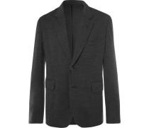 Dark-grey Mélange Stretch-virgin Wool Suit Jacket
