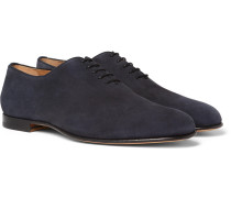 Nubuck Oxford Shoes - Navy