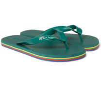 Rubber Flip Flops - Green
