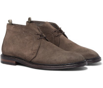 Cornell Suede Chukka Boots - Brown