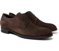 Rivoli Flex Suede Derby Shoes - Dark brown