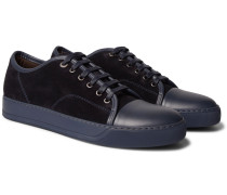 Cap-toe Suede And Leather Sneakers