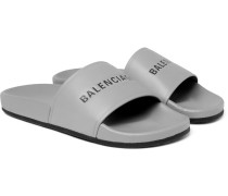 Printed Leather Slides