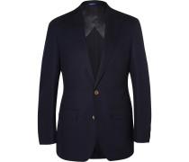Navy Curzon Slim-Fit Wool Blazer