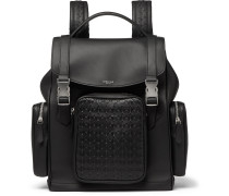 Mosaico Woven Leather Backpack