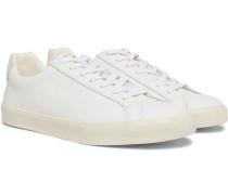 Esplar Suede-trimmed Leather Sneakers