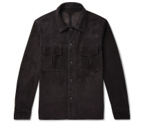 Unlined Suede Shirt Jacket