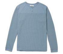 Trooper Waffle-Knit Jersey Henley T-Shirt