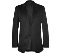 Black Slim-Fit Cashmere Jacket