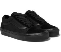 Anaheim Factory Old Skool 36 Dx Leather-trimmed Canvas And Suede Sneakers - Black