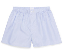 Striped Sea Island Cotton-Poplin Boxer Shorts