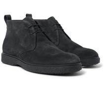 Ferdia Shearling-lined Suede Desert Boots - Black