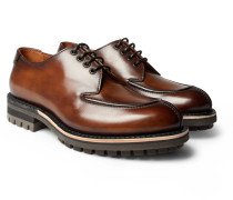 Contrast Oslo Leather Derby Shoes