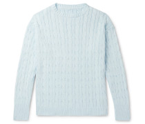 Slim-Fit Cable-Knit Cotton Sweater